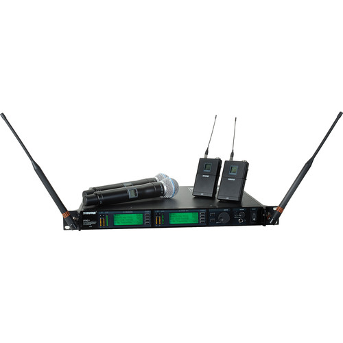 Shure UHF-R Dual-Channel UHF Bodypack and Handheld Wireless Kit (BETA 58, G1: 470 - 530 MHz)