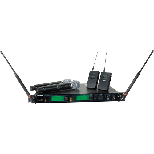 Shure UHF-R Dual-Microphone UHF Bodypack and Handheld Wireless Kit (BETA 87C, H4: 518 - 578 MHz)