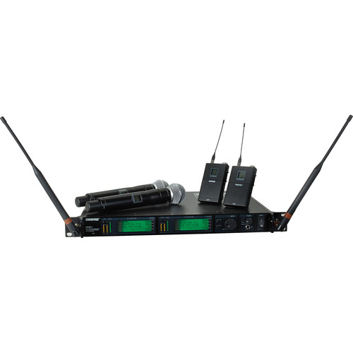 Shure UHF-R Dual-Microphone UHF Bodypack and Handheld Wireless Kit (SM58, G1: 470 - 530 MHz)