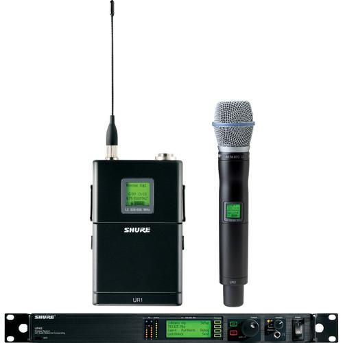 Shure UHF-R Single-Channel UHF Bodypack and Handheld Wireless Kit (BETA 87C, G1: 470 - 530 MHz)