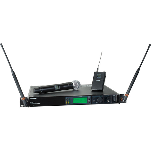 Shure UHF-R Single-Channel UHF Bodypack and Handheld Wireless Kit (SM58, G1: 470 - 530 MHz)