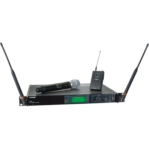 Shure UHF-R Single-Channel UHF Bodypack and Handheld Wireless Kit (SM86, H4: 518 to 578 MHz)