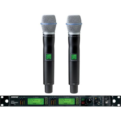 Shure UHF-R Dual-Channel UHF Handheld Wireless Kit (BETA 87A. J5: 578-608, 614-638 MHz)