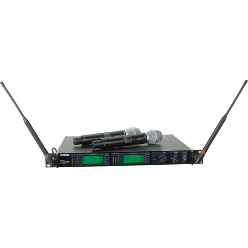 Shure UHF-R Dual-Channel UHF Handheld Wireless Kit (SM86, G1: 470 - 530 MHz)