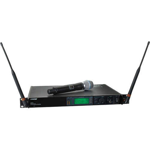 Shure UHF-R Single-Channel UHF Handheld Wireless Kit (BETA 87A. J5: 578-608, 614-638 MHz)