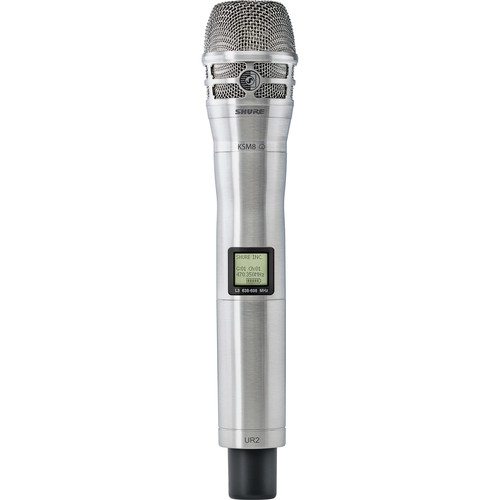 Shure UR2/K8N UHF-R Handheld Transmitter with KSM8 Mic Capsule (G1: 470 to 530 MHz, Nickel)