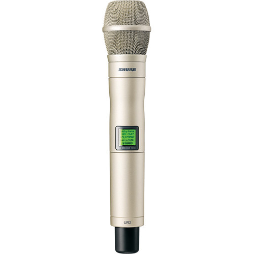 Shure UR2 Handheld Transmitter with KSM9H Mic Capsule (G1: 470 - 530 MHz, Silver)