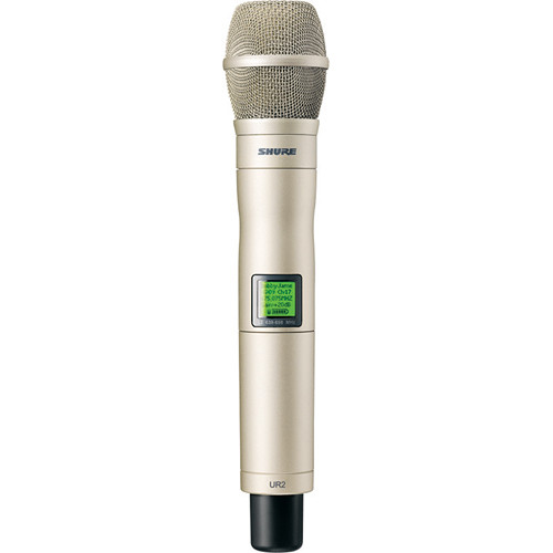 Shure UR2 Handheld Transmitter with KSM9H Mic Capsule (H4: 518 - 578 MHz, Silver)
