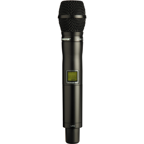 Shure UR2 Handheld Transmitter with VP68 Omnidirectional Mic Capsule (J5: 578 - 608, 614 - 638 MHz)