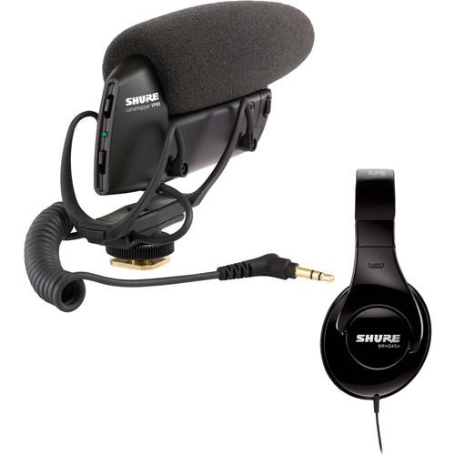 Shure VP83 LensHopper Shotgun Mic and SRH240A Headphone Kit