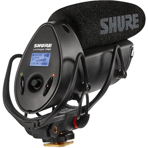 Shure VP83F LensHopper Shotgun Microphone with Integrated Flash Recorder