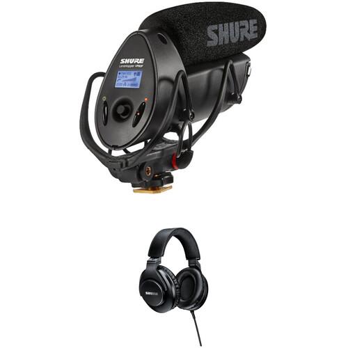 Shure VP83F LensHopper Shotgun Microphone with Integrated Audio Recorder and Headphones Kit