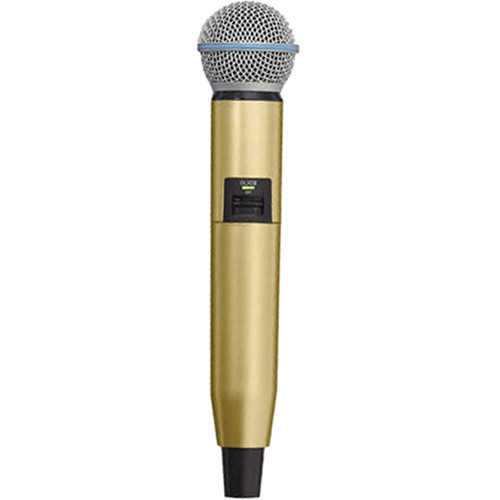 Shure WA723-GLD Color Handle for GLX-D SM58/BETA58A Microphone (Gold)