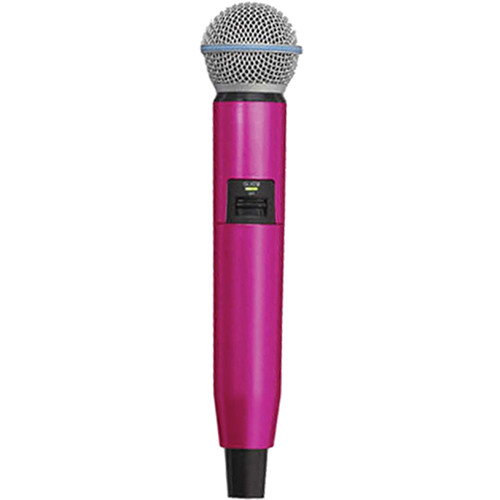 Shure WA723-PNK Color Handle for GLX-D SM58/BETA58A Microphone (Pink)