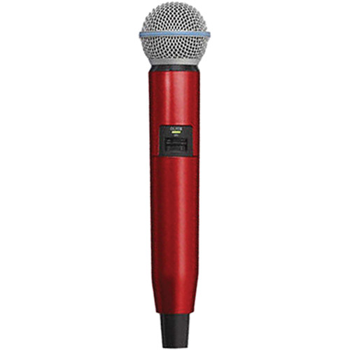 Shure WA723-RED Color Handle for GLX-D SM58/BETA58A Microphone (Red)