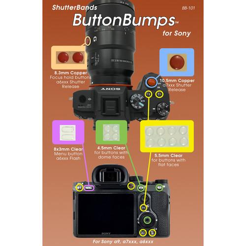 ShutterBands BB-101 ButtonBumps for Sony E-Mount