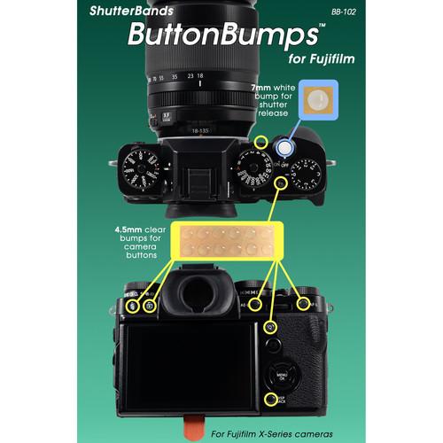 ShutterBands ButtonBumps for FUJIFILM X Series Cameras