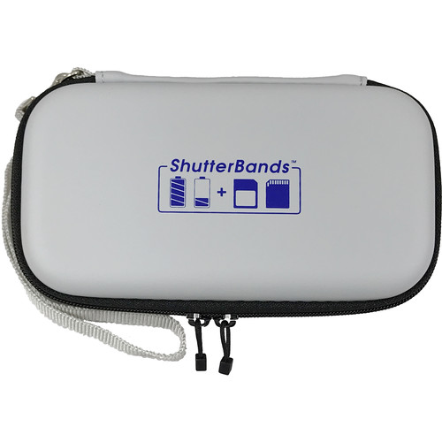 ShutterBands Batteries and Cards Case for Canon LP E17 Battery (Gray)