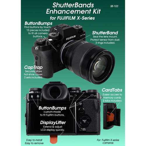 ShutterBands Enhancement Kit for FUJIFILM X Series Cameras