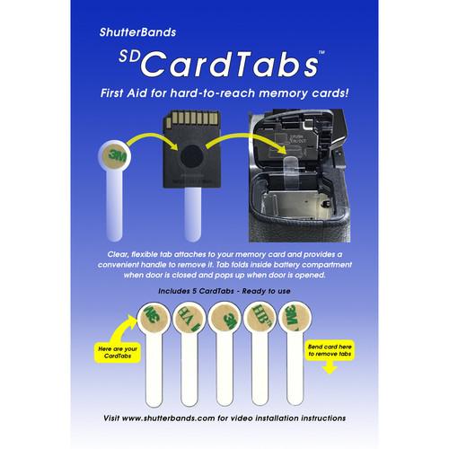 ShutterBands SD CardTabs (5-Pack)