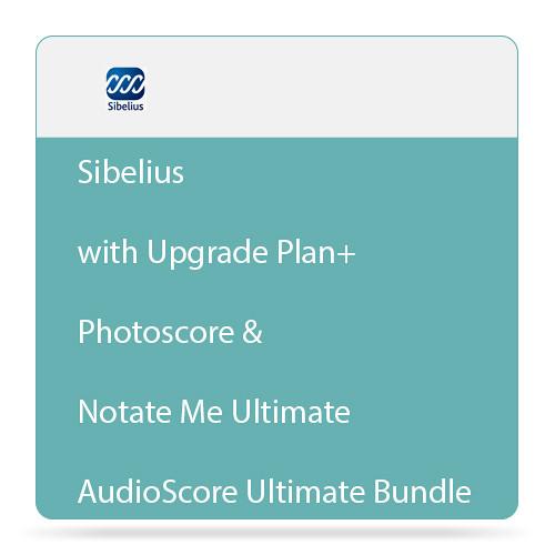 Sibelius Sibelius + Ultimate Bundle with Upgrade Plan, Photoscore & Notate Me Ultimate, and AudioScore Ultimate (Download)