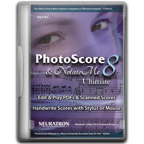 Sibelius PhotoScore & NotateMe Ultimate 8 Music Scanning Software