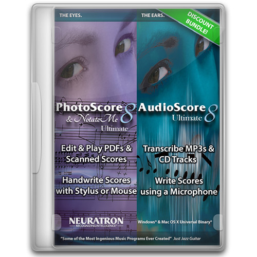 Sibelius Music Notation Software with PhotoScore & NotateMe and AudioScore Ultimate (Education Copy)