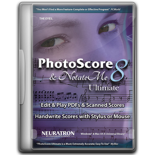 Sibelius 8 Music Notation Software with PhotoScore & NotateMe Ultimate 8 (Perpetual, Download)