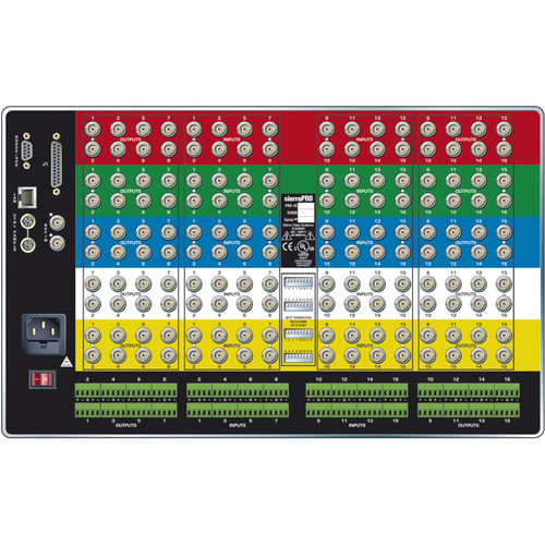 Sierra Video Pro XL Series 16x16 YUV Video Matrix Switcher with Stereo Audio & Redundant Power Supply (6RU)