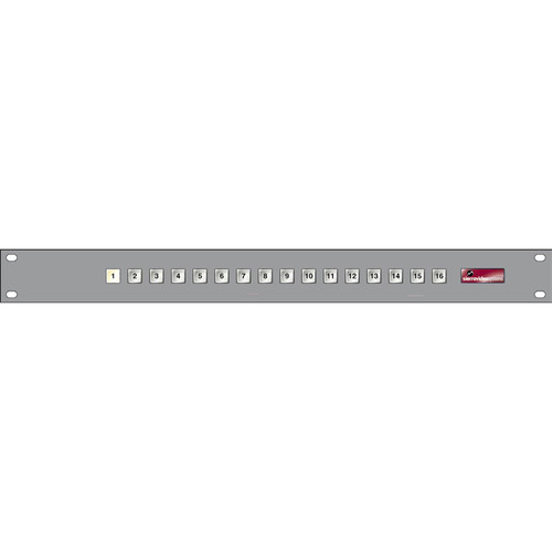 Sierra Video 16 x 1 Single Bus Remote Control Panel for Select Routing Switchers (1 RU)