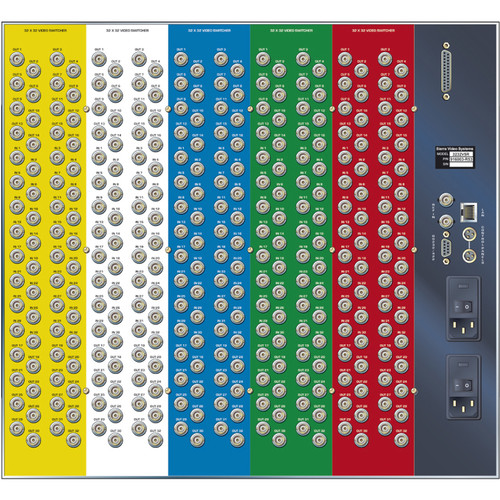 Sierra Video Pro XL Series 32x32 YUV Video Matrix Switcher with Stereo Audio & Redundant Power Supply (3RU)