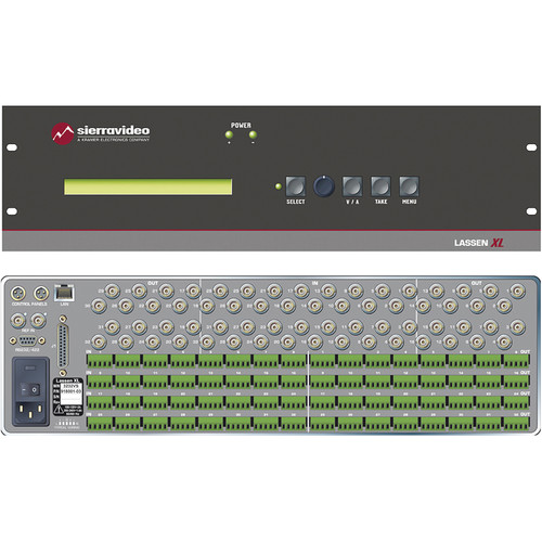 Sierra Video 32 x 32 Composite Video and Stereo Audio Routing Switcher with Redundant Power Supply
