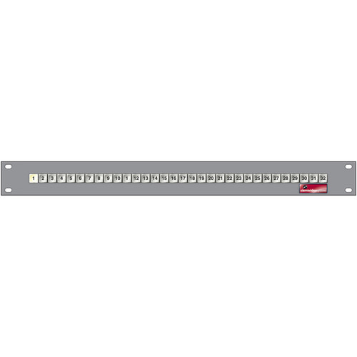 Sierra Video 32 x 1 Single Bus Remote Control Panel for Select Routing Switchers (1 RU)