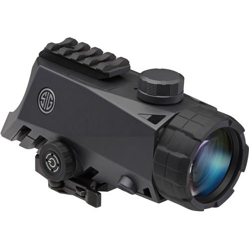 SIG SAUER 4x30 Bravo4 Red Dot Wide Field Battle Sight (300 Blackout Horseshoe-Dot Illuminated Reticle)