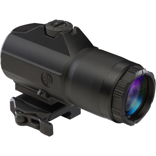 SIG SAUER 4x Slide-to-Side JULIET4 Reflex Sight Magnifier (Matte Black)