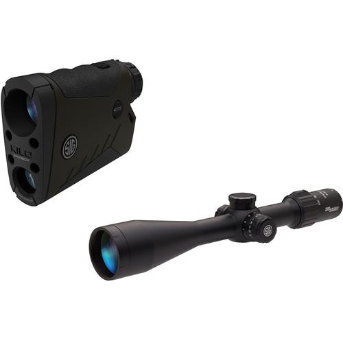 SIG SAUER KILO2400BDX 7x25 Rangefinder & 6.5-20x52 SIERRA3BDX Riflescope Combo Kit