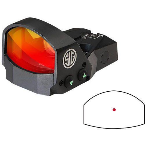 SIG SAUER ROMEO1 1x30 Open Reflex Sight without Mount (3 MOA Red-Dot Reticle, Graphite)