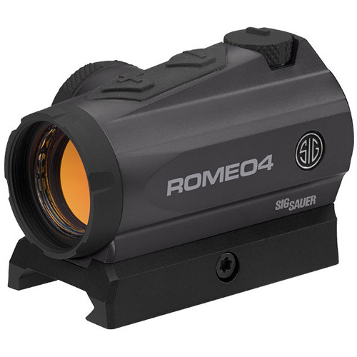 SIG SAUER Romeo4A Compact Red-Dot Sight (Red-Dot Illuminated Reticle, Graphite)