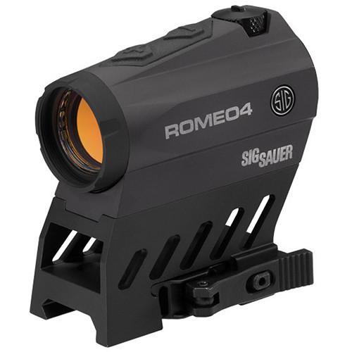 SIG SAUER Romeo4B Compact Red-Dot Sight (Dot-Circle Illuminated Reticle, Graphite)