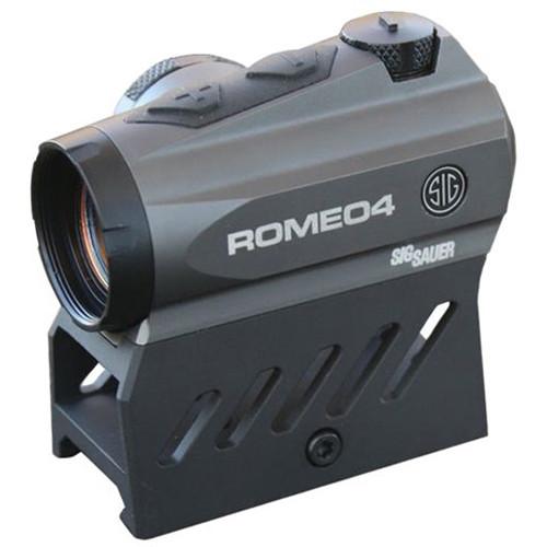 SIG SAUER Romeo4DR Compact Red Dot Sight (2 MOA Red Dot 65 MOA Circle Dot, Graphite)