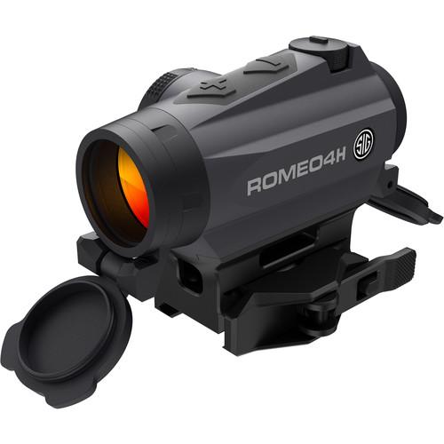 SIG SAUER Romeo4H Compact Red-Dot Sight (Dot-Circle Illuminated Reticle, Graphite)
