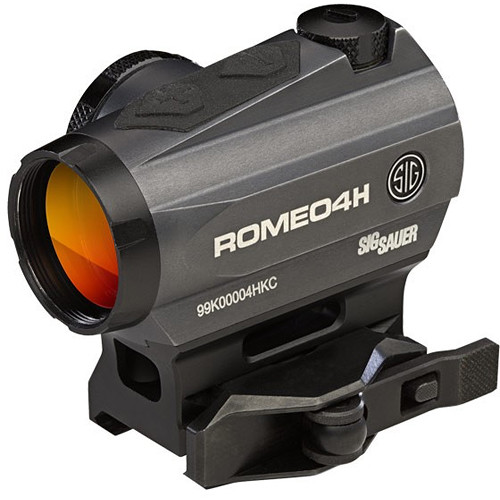 SIG SAUER Romeo4H Red Dot Sight (Green Horseshoe Dot, Graphite)