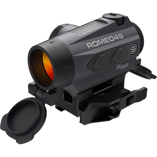 SIG SAUER Romeo4S Compact Red-Dot Sight with Solar Cell (Dot-Circle Illuminated Reticle, Graphite)