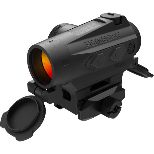 SIG SAUER Romeo4T Compact Red-Dot Sight with Solar Cell (Dot-Circle Illuminated Reticle, Matte Black)