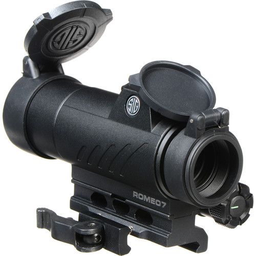SIG SAUER 1x30 Romeo7 Full-Size Red-Dot Sight (Red-Dot Illuminated Reticle, Graphite)