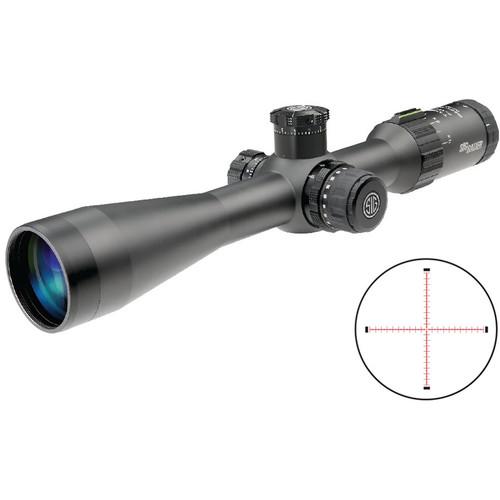 SIG SAUER 3-12x42 TANGO4 Tactical Riflescope (MRAD Milling Illuminated Reticle, Black)