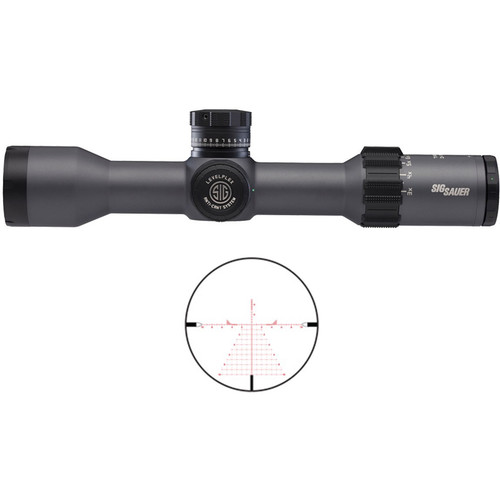 SIG SAUER 6-24x50 TANGO4 Side Focus Tactical Riflescope (DEV-L MRAD Milling Illuminated Reticle, Black)