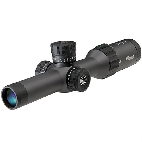 SIG SAUER 2-12x40 TANGO6 Side Focus Riflescope (MOA Milling Illuminated Reticle, Matte Black)