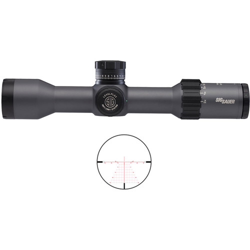 SIG SAUER 3-18x44 TANGO6 Side Focus Tactical Riflescope (DEV-L MOA Reticle, Graphite)