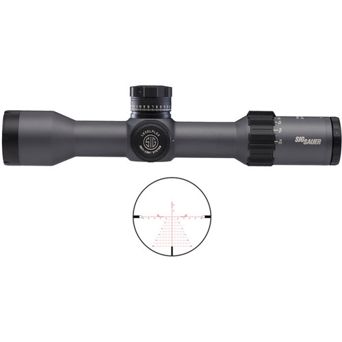 SIG SAUER 3-18x44 TANGO6 Side Focus Tactical Riflescope (DEV-L MRAD Reticle, Graphite)